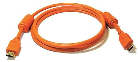 HDMI Cable, Std Speed, Orange, 3ft, 28AWG