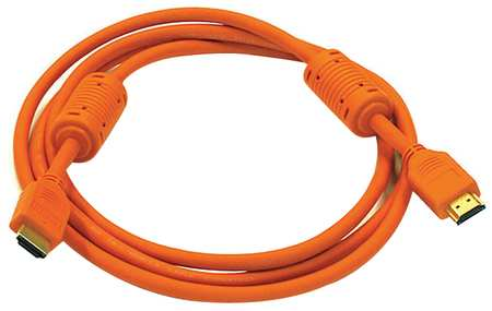 HDMI Cable, High Speed, Orange, 6ft., 28AWG