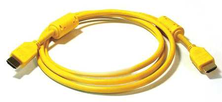 HDMI Cable, Std Speed, Yellow, 3ft, 28AWG