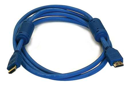 HDMI Cable, High Speed, Blue, 6ft., 28AWG