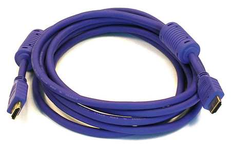 HDMI Cable, High Speed, Purple, 10ft., 28AWG