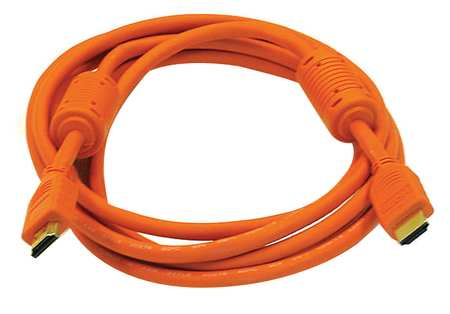 HDMI Cable, High Speed, Orange, 10ft., 28AWG