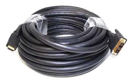 HDMI-DVI Cables, Black, 25 ft., 22AWG