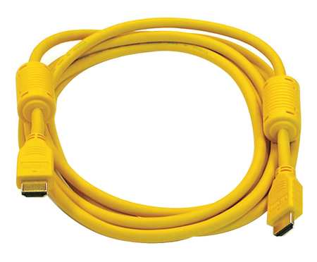 HDMI Cable, High Speed, Yellow, 10ft., 28AWG