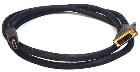HDMI-DVI Cables, Black, 10 ft., 24AWG
