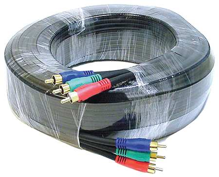 RCA Cable, RG-59/U, 3 RCA, 50 ft.