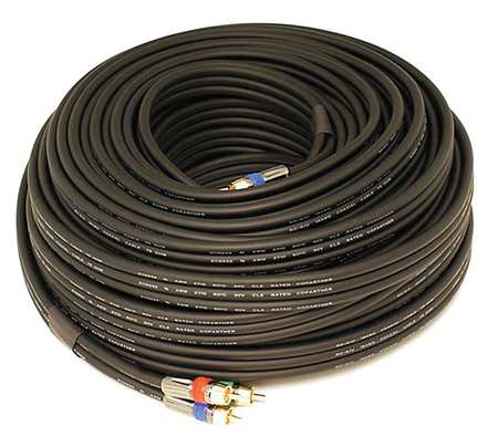 RCA Cable, RG-6, 3 RCA, 100 ft.