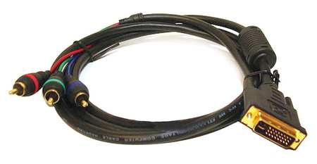 Proj cord, DVI-A to 3 RCA Male, 6ft