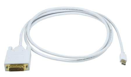 CPU Cord, Mini Display-DVI-D Sgl Male, 6ft
