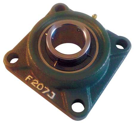 "Flange Bearing, 4-Bolt, Ball, 1-7/16"" Bore"