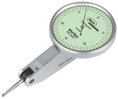 Dial Test Indicator, Swl Hd, 0 to 0.030 In