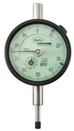 Dial Indicator, 0 to 0.500 In, 0-100