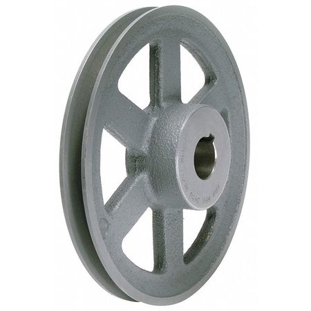 "5/8"" Fixed Bore 1 Groove V-Belt Pulley 4.95"" OD"