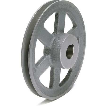 "1/2"" - 1-1/2"" Bushed Bore 1 Groove V-Belt Pulley 9.75"" OD"