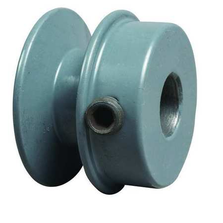 "1/2"" Fixed Bore 1 Groove V-Belt Pulley 2.05"" OD"