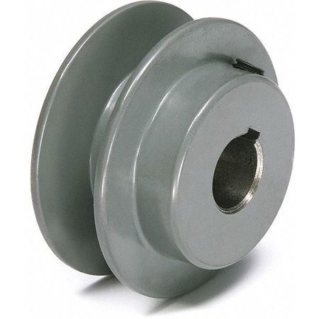 "1/2"" - 1-1/2"" Bushed Bore 1 Groove V-Belt Pulley 3.55"" OD"