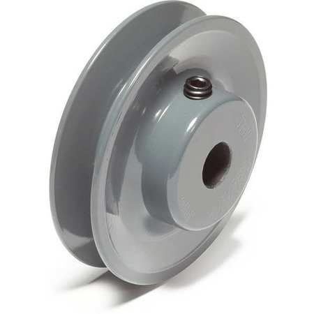 "1/2"" Fixed Bore 1 Groove V-Belt Pulley 3.75"" OD"