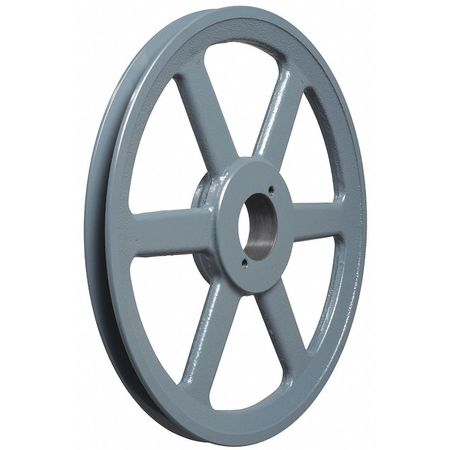 "1/2"" - 1-1/2"" Bushed Bore 1 Groove V-Belt Pulley 10.75"" OD"