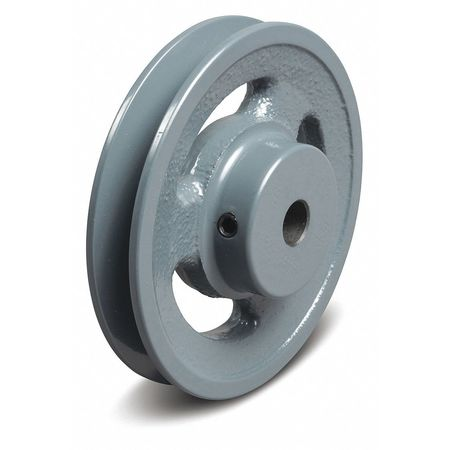 """1/2"""" Fixed Bore 1 Groove V-Belt Pulley 4.95"""" OD"""