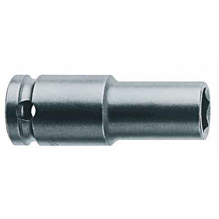 Impact Socket, 3/8 In Dr, 9/16 In, 6 pt