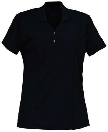 Women's  Knit Shirt,  2XL,  Black