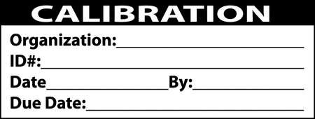 Calibration Labels, 1x2inch, Adhesive