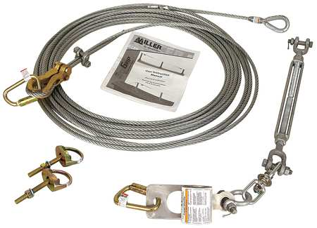 Horizontal Lifeline Kit, 60 ft. L
