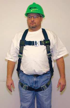 Full Body Welder Harness, 400 lb, Black