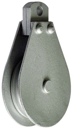 Pulley Block, Wire Rope, 685 lb Load Cap.