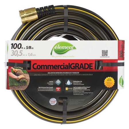 Water Hose, Rnfrcd Virgin PVC, 5/8 In ID
