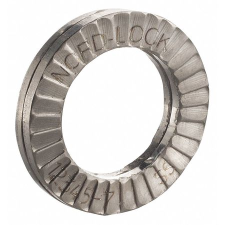 "5/8"" x 1.000"" OD 316 Stainless Steel Plain Finish Lock Washers,  100 pk."