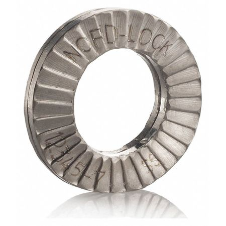 "7/8"" x 1.650"" OD 316 Stainless Steel Plain Finish Lock Washers,  50 pk."