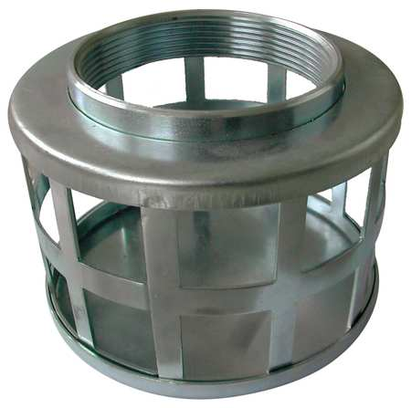 Suction Strainer, 5 Dia, 1.5 NPSM, SidePerf