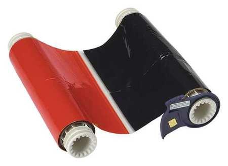 Ribbon Cartridge, Black/Red, 6-1/4 In. W