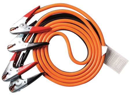 Booster Cable, HD, 1 AWG, 25 Ft, Parrot Jaw
