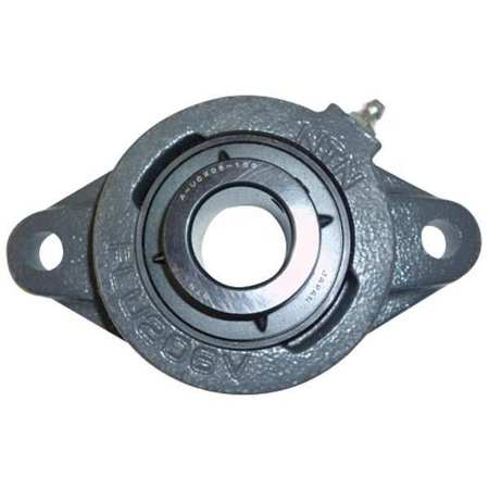 "Flange Bearing, 2-Bolt, Ball, 1-1/8"" Bore"