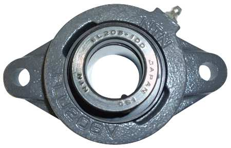 "Flange Bearing, 2-Bolt, Ball, 1/2"" Bore"
