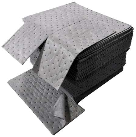 Absorbent Pads, 24 gal., 18 In. L, PK100