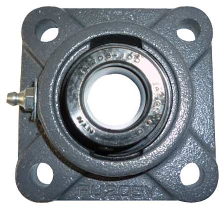 "Flange Bearing, 4-Bolt, Ball, 15/16"" Bore"