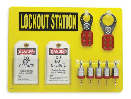Lockout Station, Filled, Keyed Different