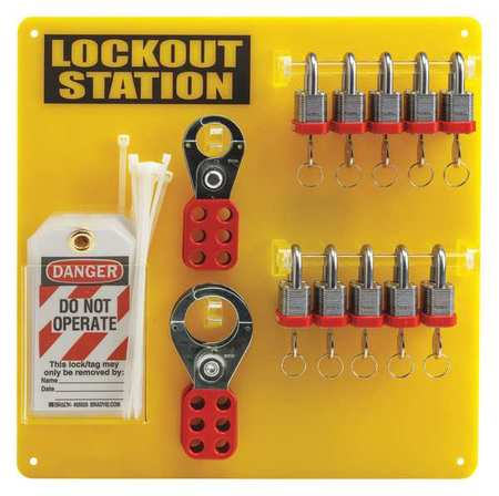 Lockout Station, Filled, 13-1/2 In H