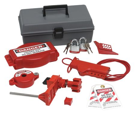 Portable Lockout Kit, Filled, Valve, 10