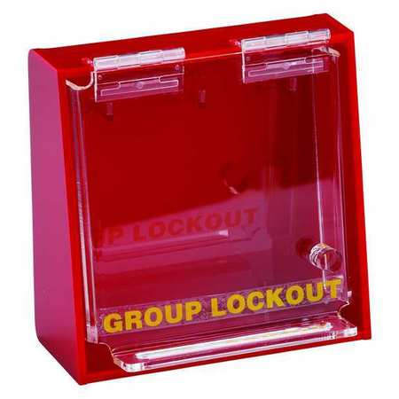 Group Lockout Box, 3 Locks Max, Red