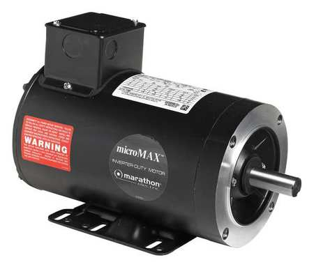 Marathon motors vector motor 1 5 lb ft 1 2 hp 230 460 v for Marathon black max motors