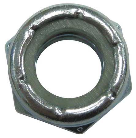 "3/8""-16 Grade 8 Yellow Zinc Finish Steel Tooth Washer Lock Nut,  100 pk."
