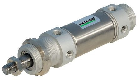 40mm Bore Round Double Acting Air Cylinder 25mm Stroke