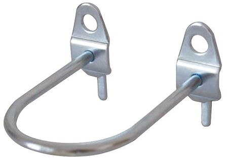 U-Shaped Pegboard Hook, 1 3/4 In ID, PK5