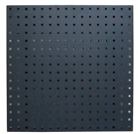 Square Hole Pegboard, 24x24, Gray, PK2