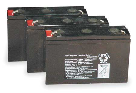 Battery, Lead Calcium, 6V, 36A/HR.