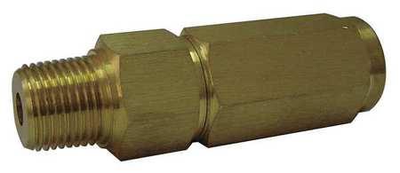 Snubber, Piston, 1/2 In NPT, 5000 psi, Brass